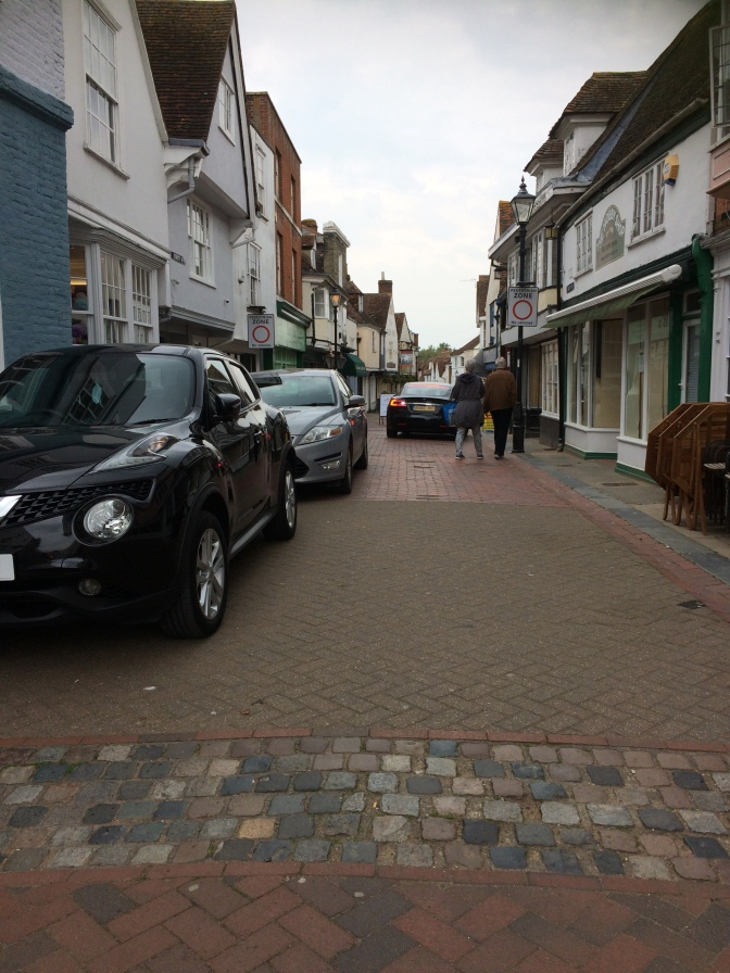 "Faversham's ""Pedestrian Zone"" is in fact a car parking free-for-all"